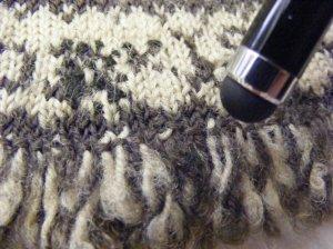 Walton glove thrummed fringe