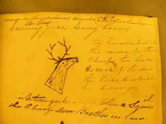 Long Horn's signature in 'The Visiters' Book', 1818.