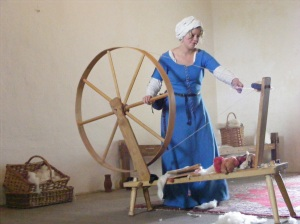 My Jack Greene Great Wheel. Here being spun on by the lovely Emma, at Bolton Castle.