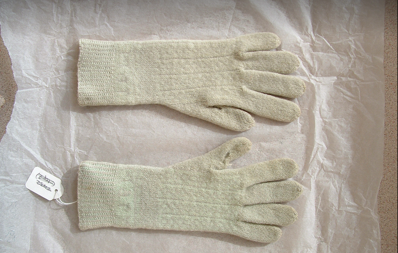Dales gloves. (Originally pink and cream). I've reverse engineered these - pattern will be up soon!