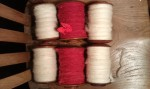 Some of Day 2's spinning - Lleyn (white) and Boreray.