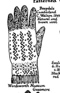 Marie's 1948 wood engraving of George Walton glove