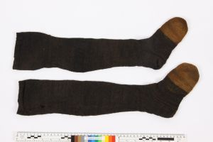 Stockings from the wreck. Most likely knitted in Yorkshire, c. 1780. Image courtesy Polish Maritime Museum, Gdansk.